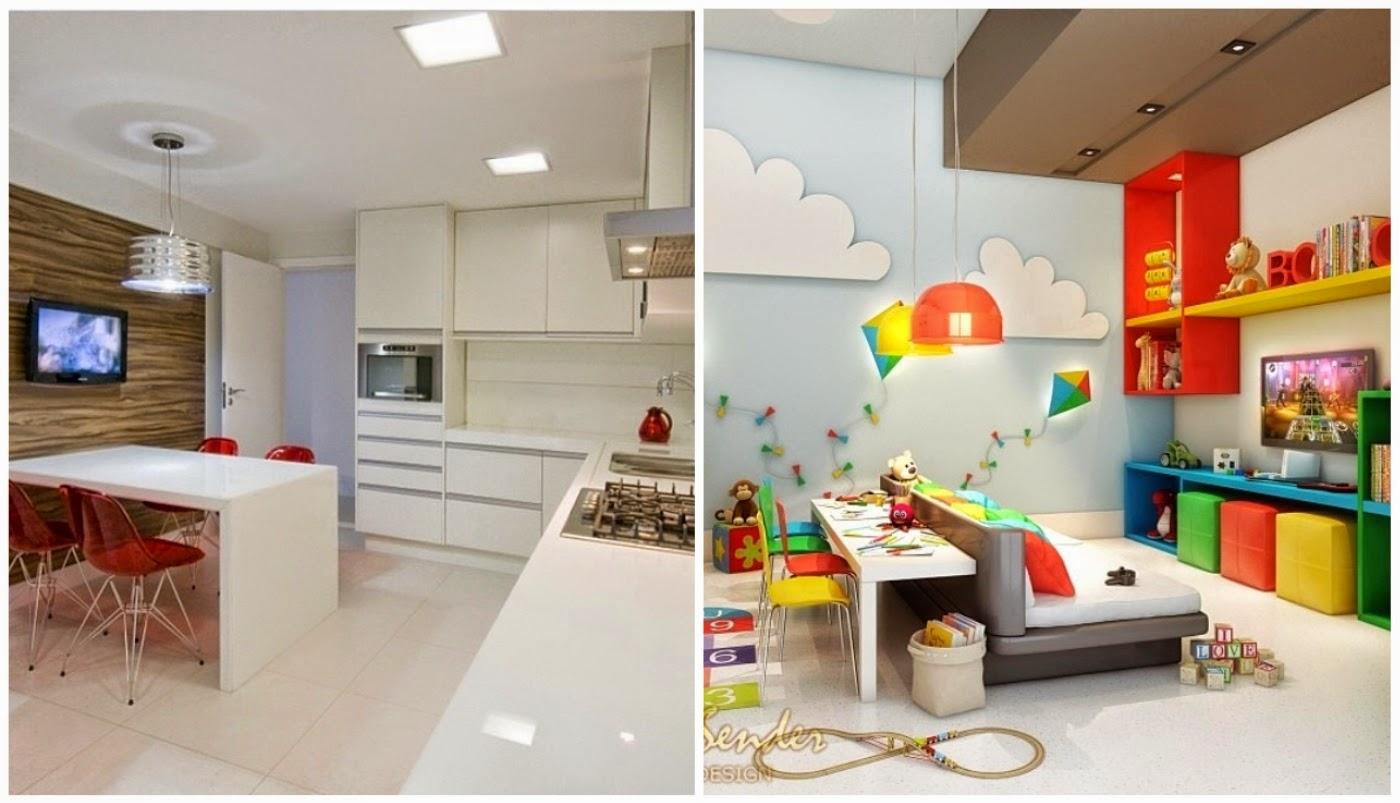 cozinha branca com cadeira DKR @assimeugosto e brinquedoteca colorida @jairodesender