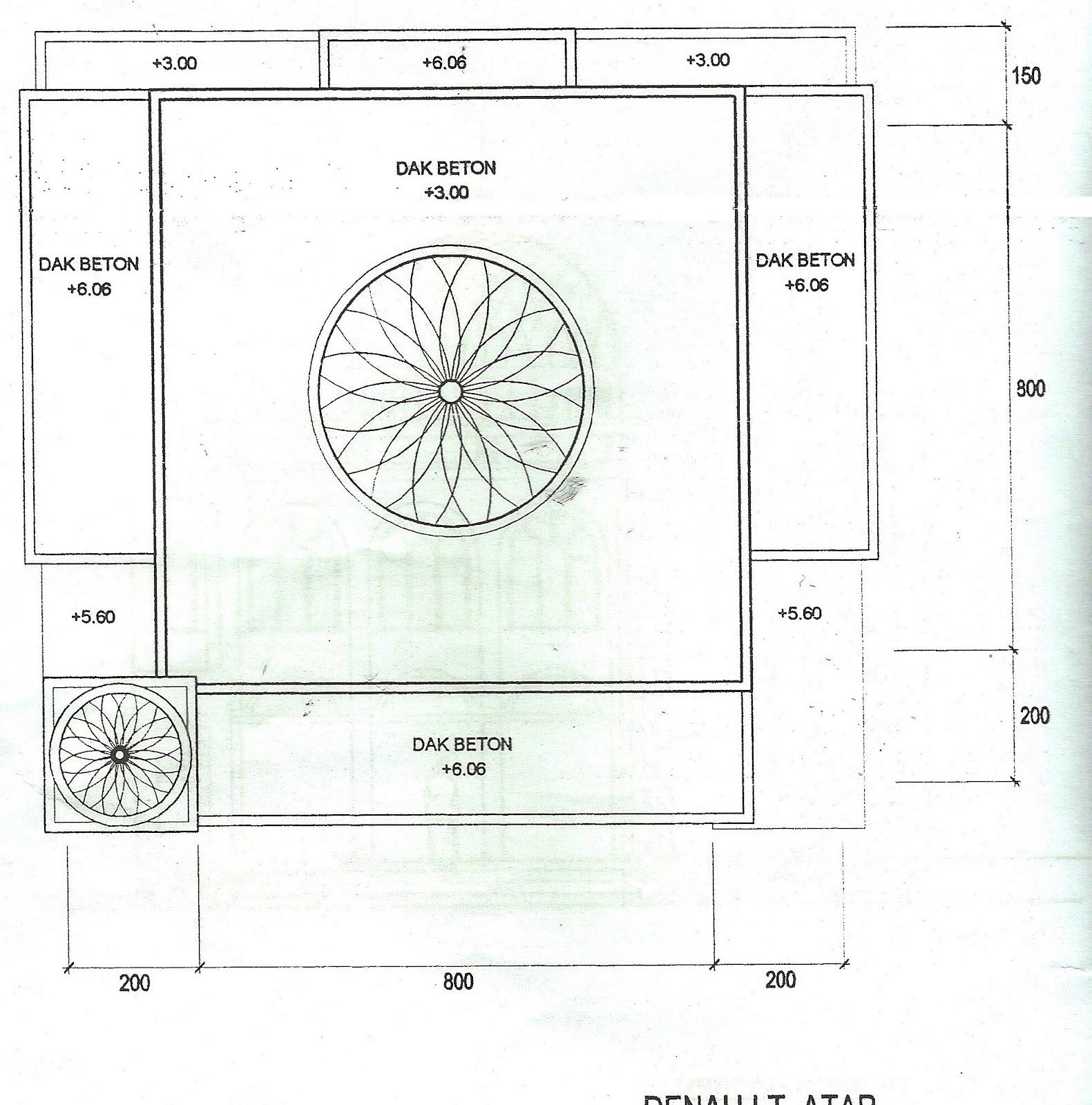 denah rencana bangunan mushola blog masjid at taqwa