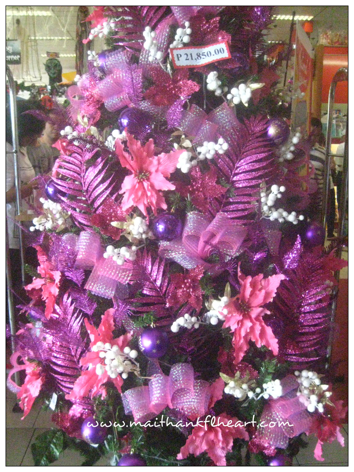 Christmas trees decorated pink -  Christmas Tree Decorations 612x816 Pink