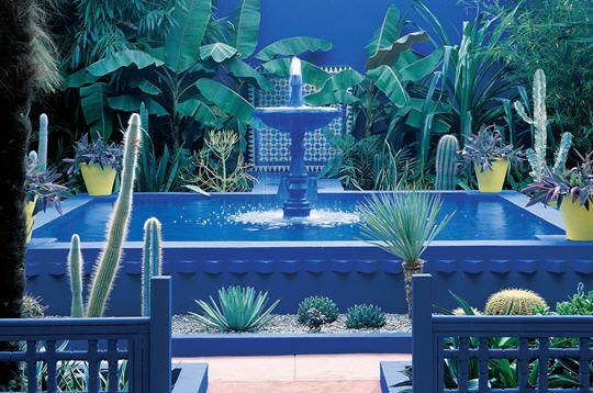 pinkpagodastudio moroccan majorelle blue jardin majorelle in marrakesh. Black Bedroom Furniture Sets. Home Design Ideas