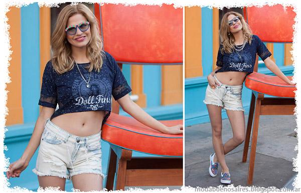 Tops y remeras moda verano 2015 Doll Fins.