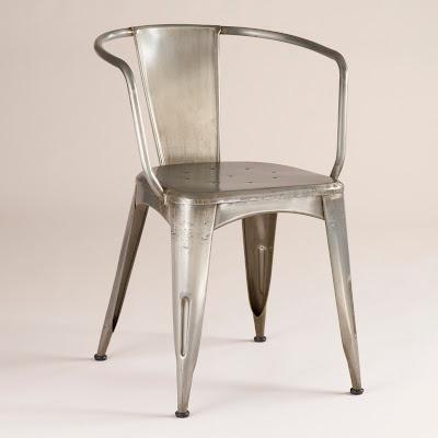 pottery barn tolix cafe chairs decor look alikes