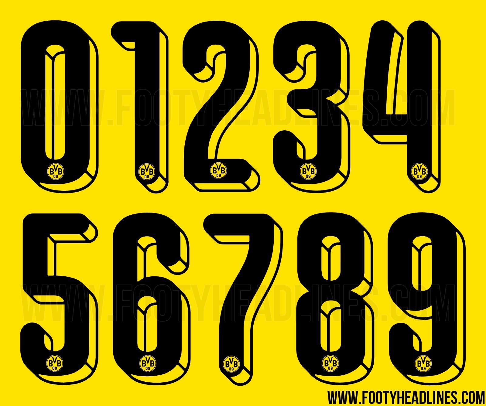 new borussia dortmund 15 16 kit font revealed footy headlines