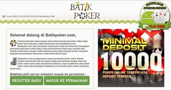Batik poker biz slot nuts sister sites