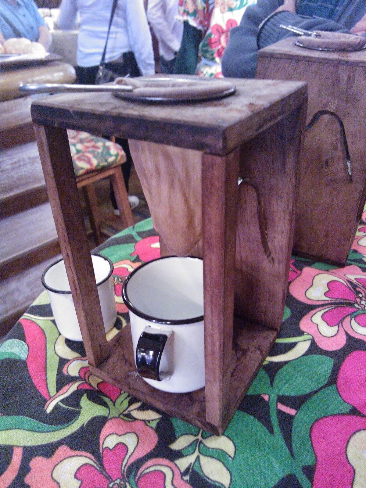 café de coador da loja Doce da Roça - Poços de Caldas - MG
