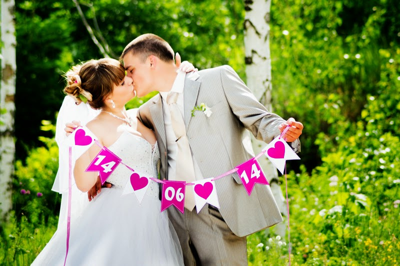 Дата на свадьбу своими руками 12