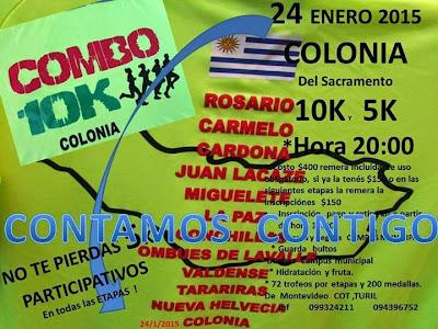 10k Colonia del Sacramento (Combo Colonia, 24/ene/2015)