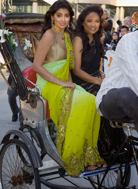 Shriya Saran In Green Saree