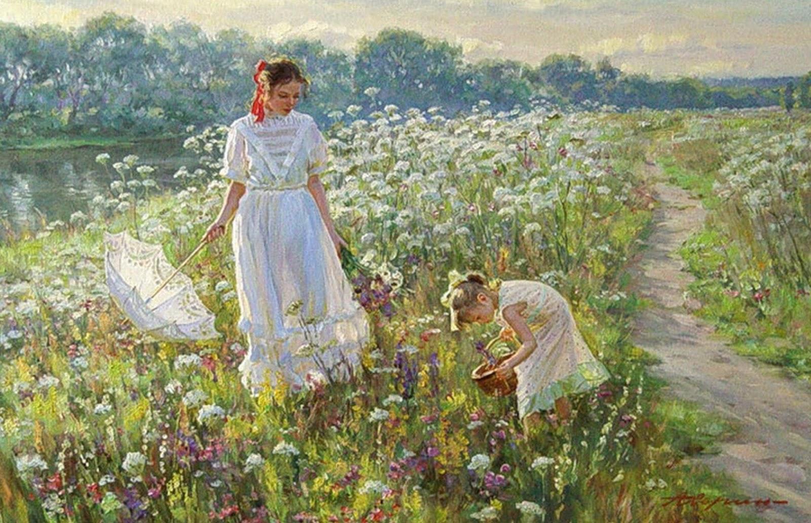 Pinturas cuadros lienzos pinturas impresionistas paisajes - Oleos de jardines ...