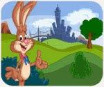 Thỏ con dạo phố, game van phong