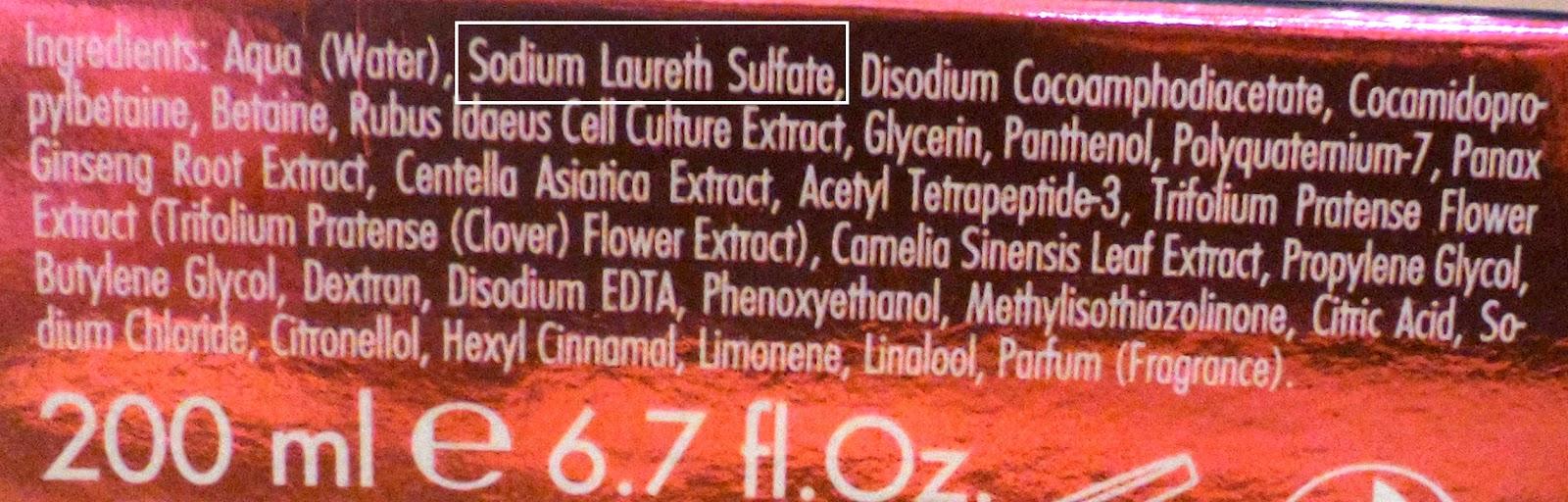 sulfatos en el cabello