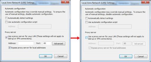 Use a proxy server