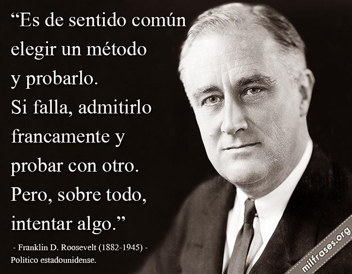 frases y libros de Franklin D. Roosevelt (1882-1945) Político estadounidense.