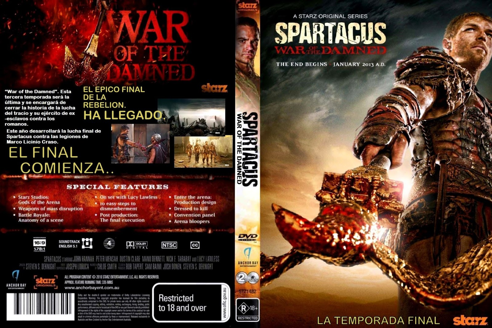 MATANZAS ÉPICAS EN LA TEMPORADA 4 DE SPARTACUS: \'WAR OF THE DAMNED ...