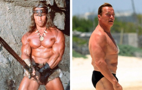 STRENGTH FIGHTER Arnold Schwarzenegger Then And Now Photos