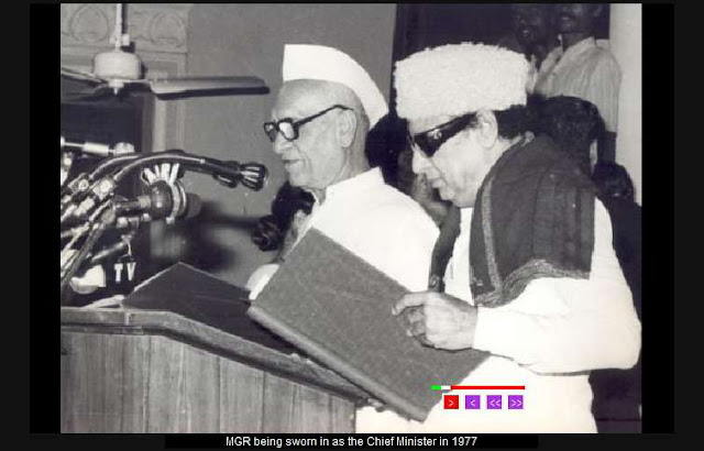 MGR being Sworn in as the Chief Minister in 1977