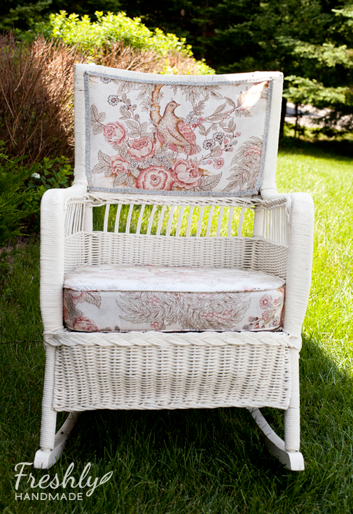 This Chair Was A Gift From My Mom Who Actually Did The Upholstery. And,  Quite A Nice Job She Did I Might Add. It Has Sat On The Front Porch Of Both  ...