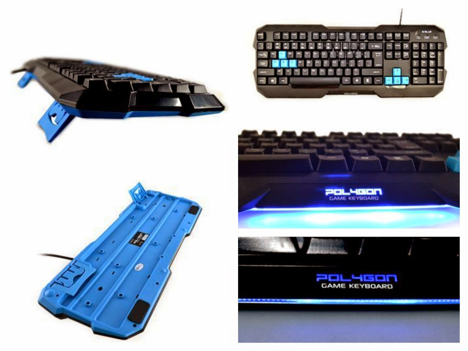 E-Blue Polygon Gaming Keyboard by SANDYTACOM