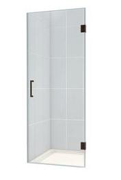 the shower door is loweu0027s dreamline unidoor with oil rubbed bronze hinges and handle