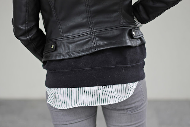 black and grey fashion with some stripes