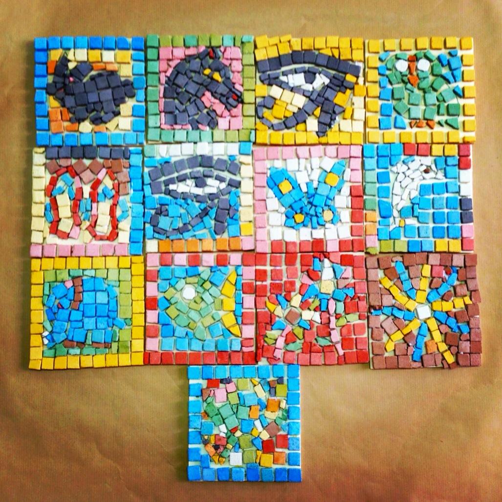 El blog en ascuas semana cultural los romanos for El mural de mosaicos