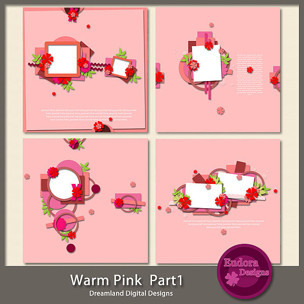 digital scraps by nona kit emportee par le vent and template warm pink 1. Black Bedroom Furniture Sets. Home Design Ideas