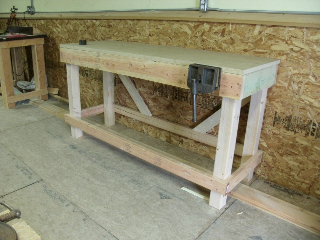 Wonderful Workbench Height Good Wood To Build Furniture Floor