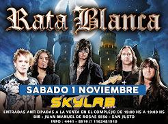 """RATA BLANCA EN EL """"SKYLAB DISCO"""" - 01/11/2014"""