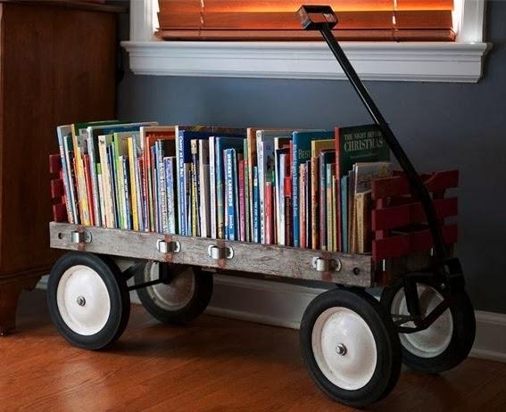 Wagon+bookshelf
