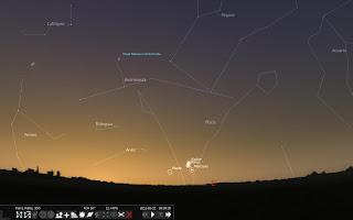 Conjuncion planetas mayo 2011