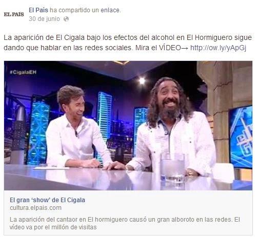El Cigala borracho en Antena 3, eufórico, Pablo Motos