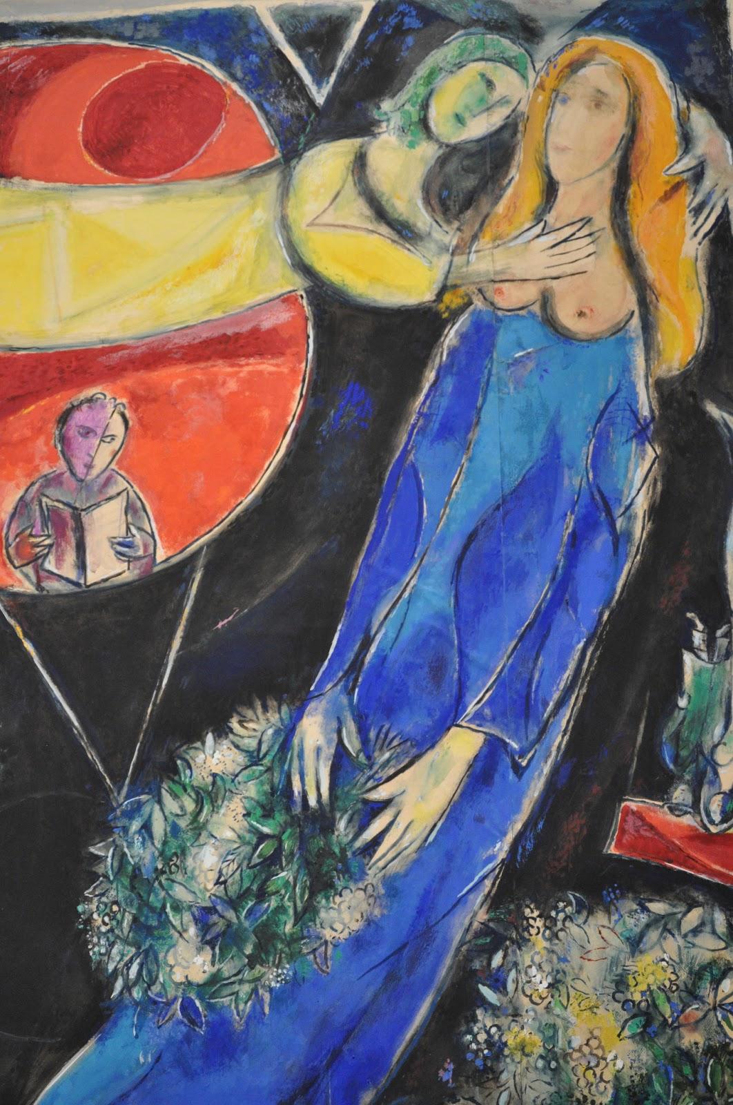 Iolanda andrade marc chagall 39 s exhibition at mus e du for Marc chagall paris vu de ma fenetre