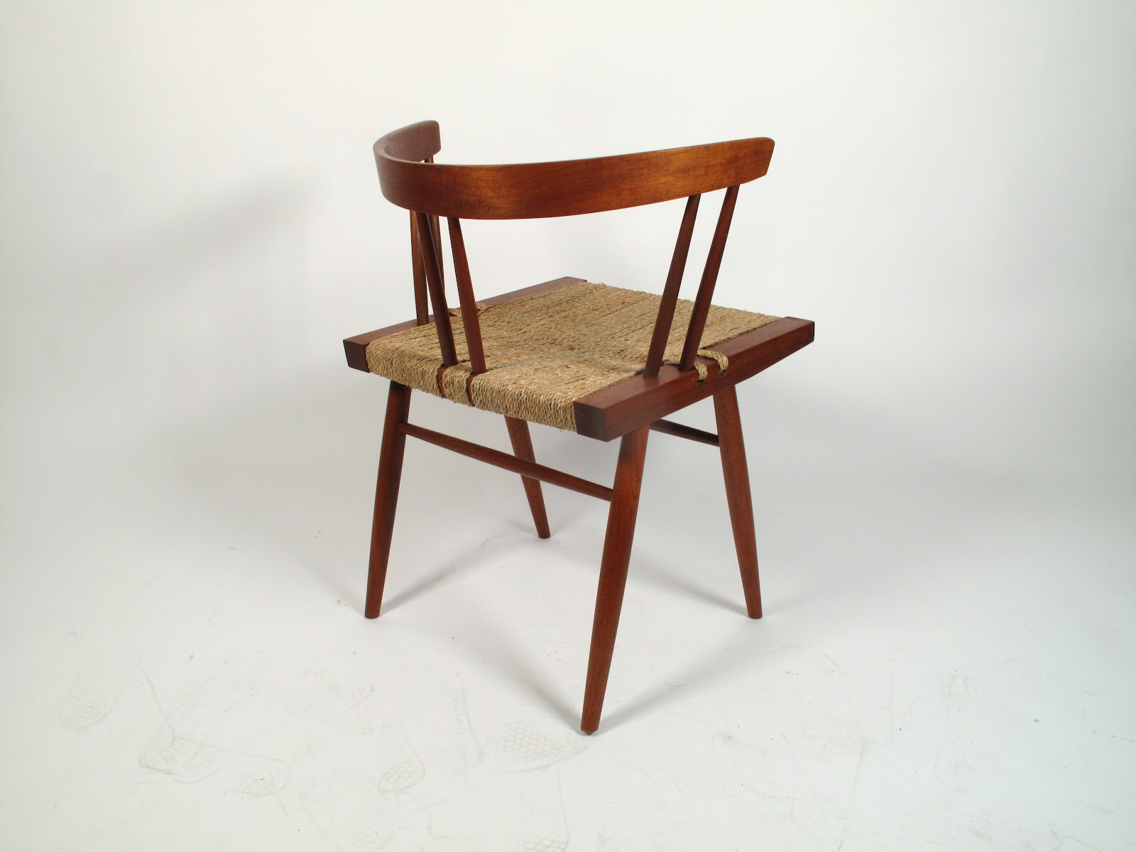 Just in Modern George Nakashima Grass Seat Chair 1960 s