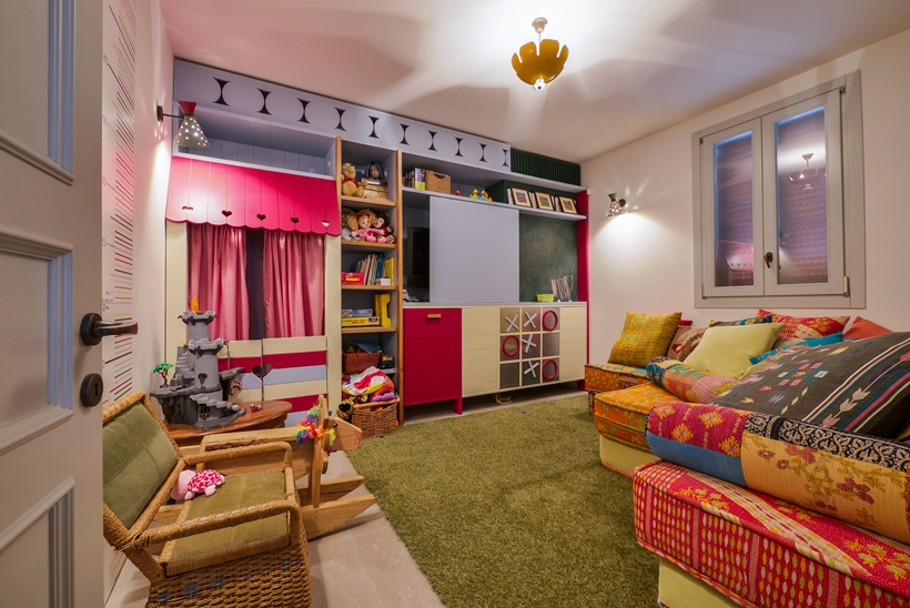 Kid's room in the Townhouse decorated in the style of old Neve Tzedek, Israel