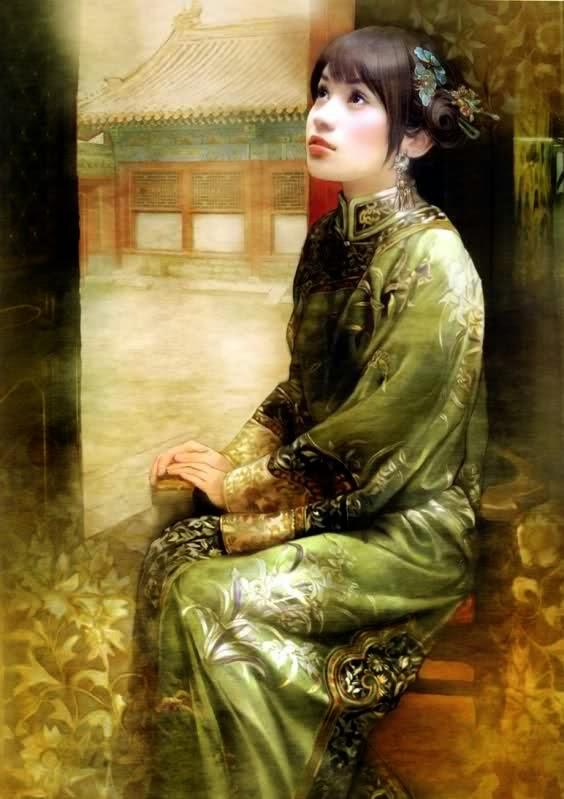 pintura de mulher chinesa