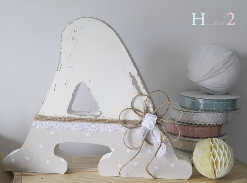 Letras de madera personalizadas diseño de Habitan2