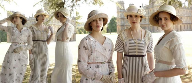 sorelle crawley outfit estivi