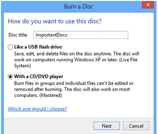 Cara Burning File Ke CD/DVD Tanpa Software