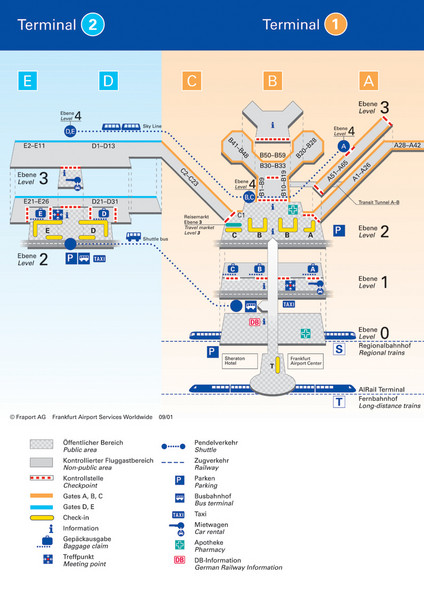 Frankfurt Airport Map  Free Printable Maps