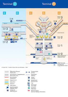 Official Frankfurt airport map