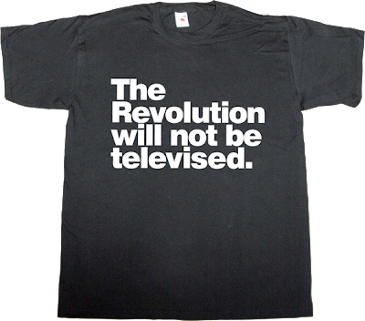 TV activism helvetica #spanishrevolution #democraciarealya t-shirt ephemeral-t-shirts