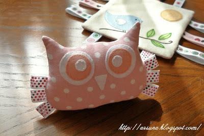 fabric owl, развивающая игрушка