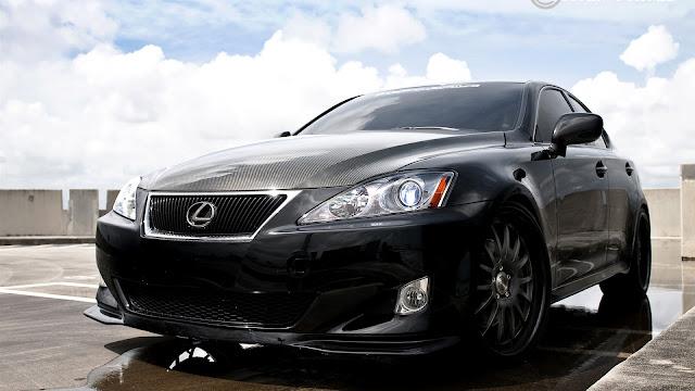 Lexus IS350 Black Car HD Wallpaper