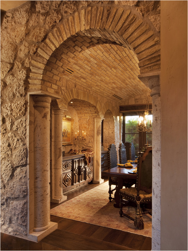 Tuscan dining room design ideas room design ideas for Dining room tile designs