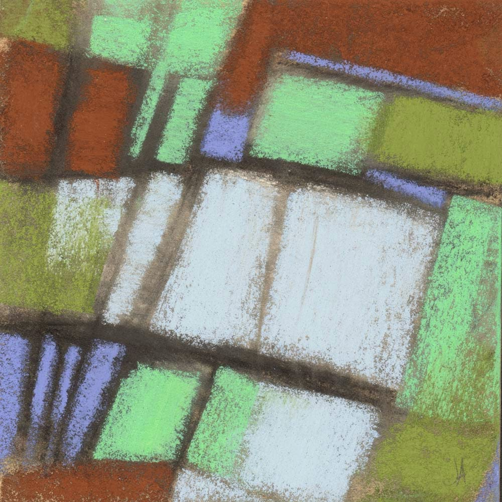 askew geometric abstract pastel drawing painting artist janine aykens