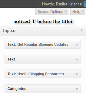 Don't Show Widget Title in WordPress