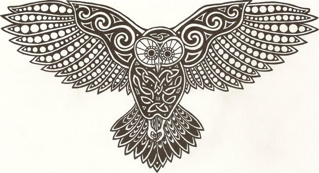 Celtic Owl Tattoo Design Picture 2