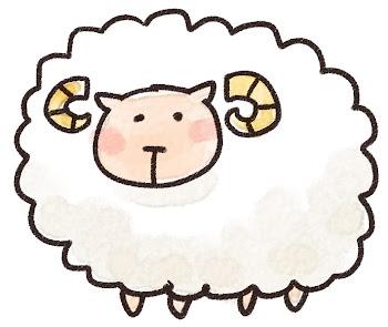 羊のイラスト(未年・干支)