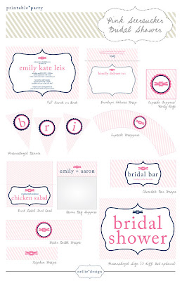 Nautical by Nature: bridal shower ideas from Etsy