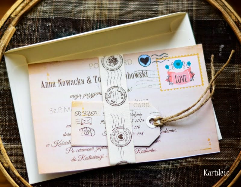 Zaproszenie - kartka pocztowa